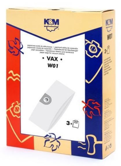 K&M Group Vacuum Cleaner Bags for VAX 3pcs