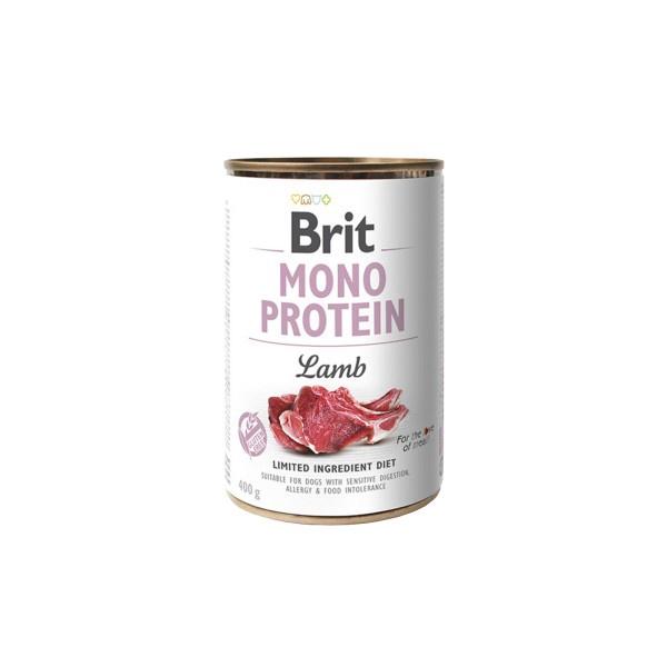 Konservuotas ėdalas šunims Brit mono protein, su ėriena 400 g