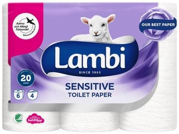Lambi Sensitive Toilet Paper 6pcs White