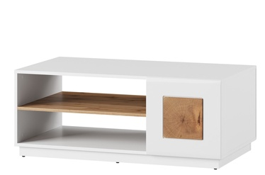 Kohvilaud Szynaka Meble Wood 41 White/Wotan Oak, 1100x600x440 mm