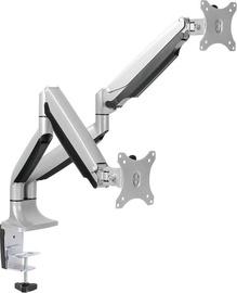 Televizoriaus laikiklis LogiLink Dual Aluminum Monitor Desk Mount BP0043