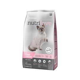 Sausas ėdalas katėms Nutrilove Sterile, su vištiena, 1.4 kg