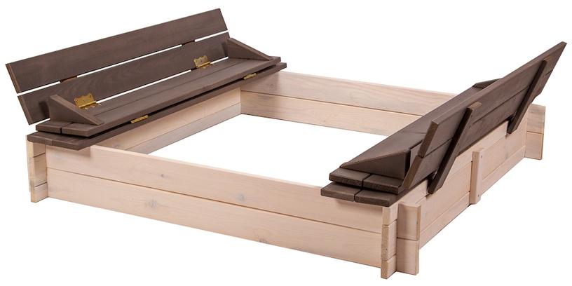 Folkland Timber Sandbox Four Corner Foldable Lid White/Graphite