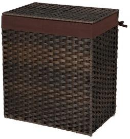 Songmics Clothes Basket Brown 57x33x60cm
