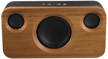 Belaidė kolonėlė Platinet Wireless Speaker Bamboo Stereo 3.1 Black/Brown