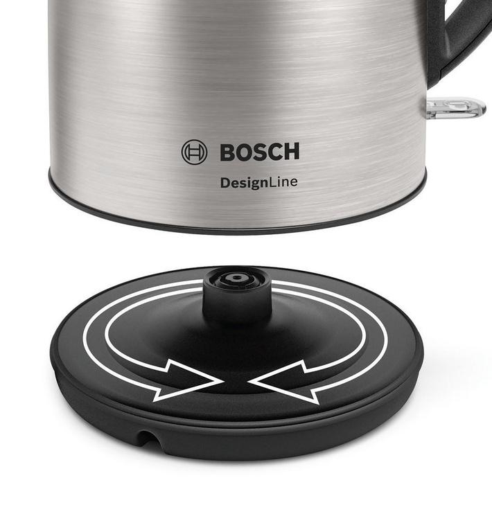 Электрический чайник Bosch Design Line TWK3P420 Stainless Steel/Black