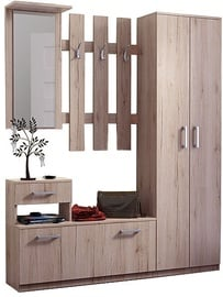 Комплект мебели для прихожей WIPMEB Estera, дубовый