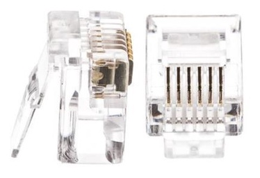 Netrack Telephone Plug RJ12 100 pcs