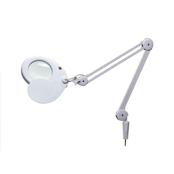 Galda lampa ar lupu 6022-1 22W, balta