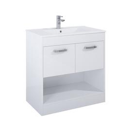 Pakabinama vonios spintelė su praustuvu Domoletti Zen, balta