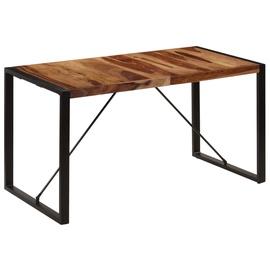 Söögilaud VLX Solid Sheesham Wood 247422, pruun/must, 1400 mm x 700 mm x 750 mm
