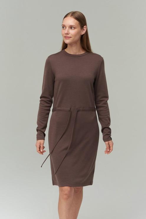 Audimas Merino Bamboo Blend Dress Peppercorn L