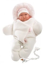 Llorens Doll Newborn Lala In Pink Coveralls 42cm 74038