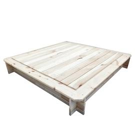 Smėlio dėžė su dangčiu, 119 x 119 x 20 cm
