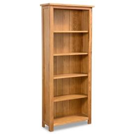 Полка VLX Solid Oak Wood, коричневый, 60 см x 22.5 см x 140 см