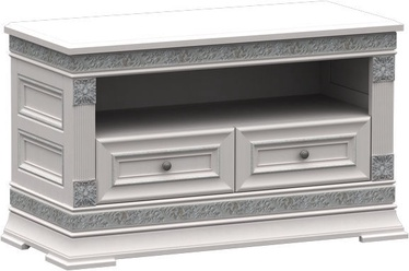 MN T1-100 TV Stand Silver/White