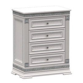 WellMaker K1-60 Chest Of Drawers 84x103x46cm Silver