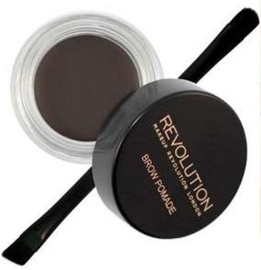 Makeup Revolution London Brow Pomade With Double Ended Brush 2.5g Ebony