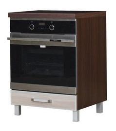 Кухонный шкаф Bodzio Ola Oven 60 Nut Latte, 600x590x860 мм