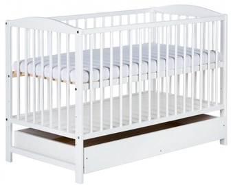 Klups Radek II Cot With Drawer White