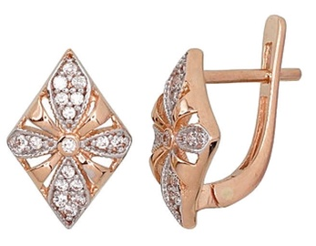 Diamond Sky Gold Earrings Prestige III