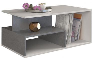 Kafijas galdiņš Top E Shop Prima Concrete/White, 900x510x430 mm