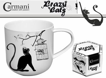 Carmani Crazy Cats Mug Cat With Bird 500ml