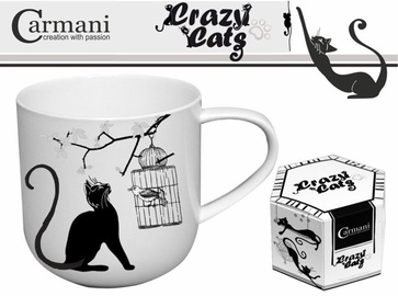 Carmani Crazy Cats Mug Cat With Bird 500ml
