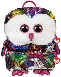 TY Fashion Plush Sequin Backpack Owen Owl