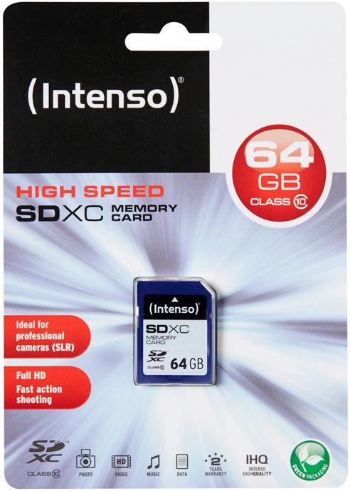 Intenso 64GB SDXC Class 10 3411490