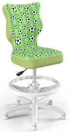 Entelo Petit Black HC+F Size 3 Children Chair ST29 White/Balls
