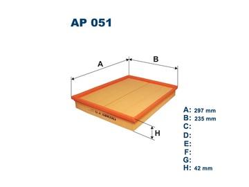 Automobilių oro filtras Filtron AP 051