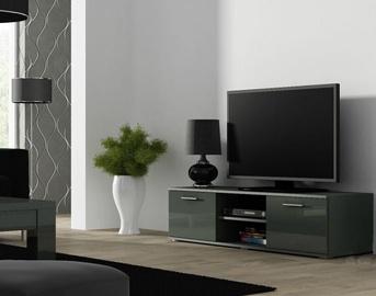TV galds Cama Meble Soho 140, pelēka, 1400x430x370 mm