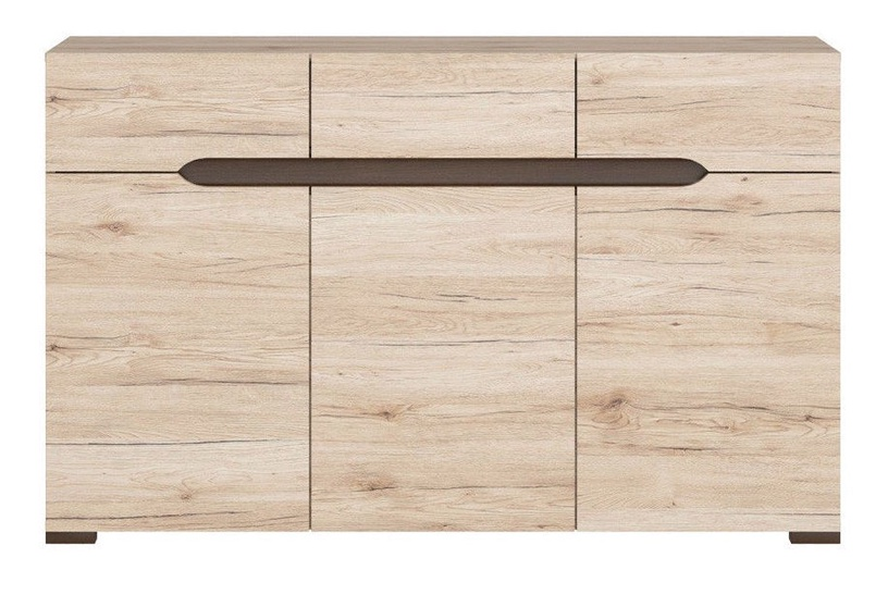 Комод Black Red White Elpasso San Remo Oak, 135.5x41.5x84 см