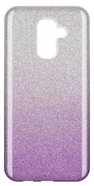 Wozinsky Glitter Shining Back Case For Samsung Galaxy A6 Plus Purple