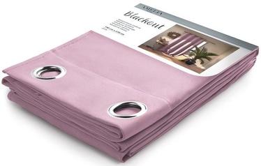 Ночная занавеска AmeliaHome Blackout, розовый, 1400x2700 мм