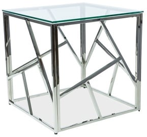 Signal Meble Escada B Table 55x55cm Chrome