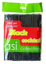 Asi Collection Cocktail Straws Black 250PCS/Ø5mm/21cm