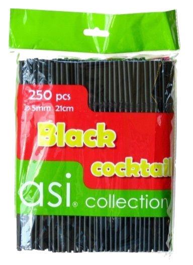Asi Collection Cocktail Straws Black 250PCS/Ø5mm/21cm