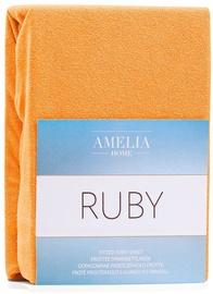Простыня AmeliaHome Ruby, oранжевый, 240x200 см, на резинке