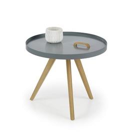 Kavos staliukas Luka pilkas, 55 x 55 x 45 cm