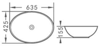Aquacubic Sink ACB8195 White