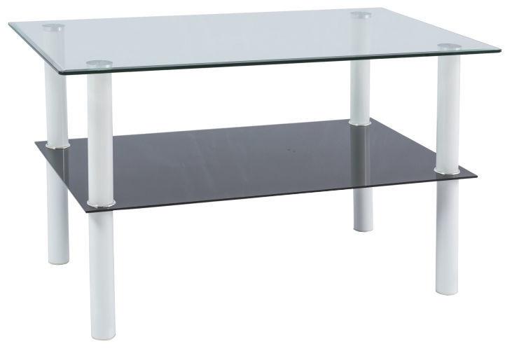 Coffee Table.Signal Meble Doris Coffee Table 60x100cm Transparent White