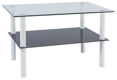 Signal Meble Doris Coffee Table 60x100cm Transparent/White