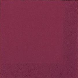 Susy Card Party Napkin Bordeaux 33 x 33 cm