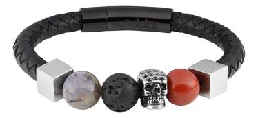 Käevõru Zippo Leather Bracelet With Charms 22cm