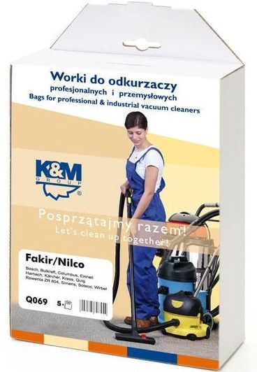 K&M Group Vacuum Cleaner Bags 5 for Karcher KM-Q69