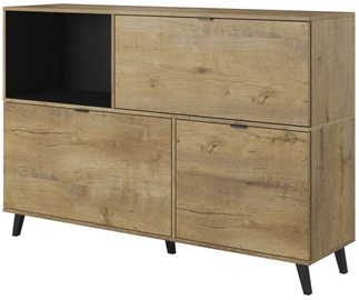 Halmar Nest Km-1 Chest Of Drawers Oak/Black