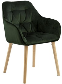 Evelekt Brooke Chair Dark Green/Oak