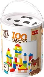Konstruktors Trefl Wooden Toys Blocks, 100 gab.